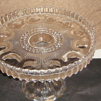 Glass Cake Plate - Glassware