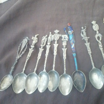collectable vintage spoons - Sterling Silver