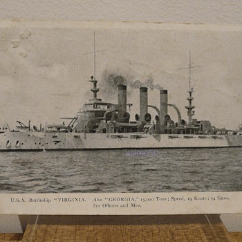 U.S.A. BATTLESHIP &quot;VIRGINIA.&quot; ALSO &quot;GEORGIA&quot; - Postcards