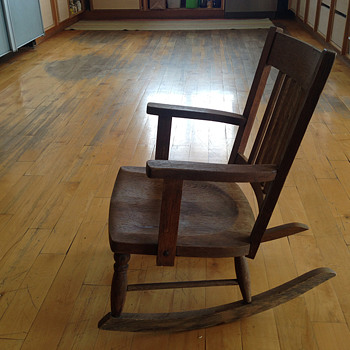 Child's Oak Rocker - Furniture