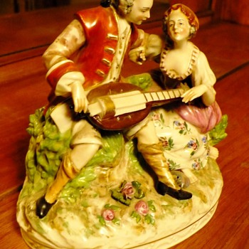 Victoria Man and Woman - Art Pottery