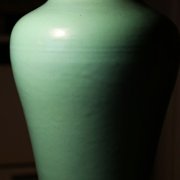 Large Oil Jar - Bauer? Garden City? or who? - Sky Blue! - Pottery