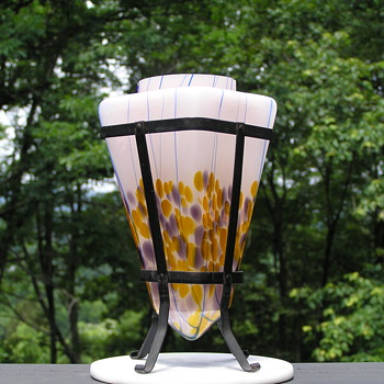 kralik Art Deco Shaped Glass Vase - Art Deco