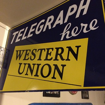 Western Union Telegraph Here - Advertising
