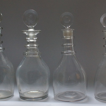 Classic Georgian decanters