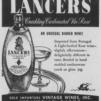 1954 Lancers Wine Advertisement - Advertising