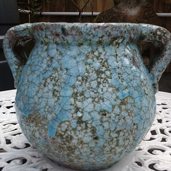 crackle vase??  - Art Pottery