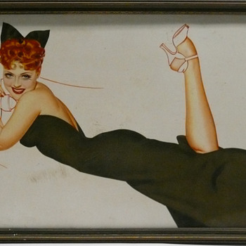 Acme Beer George Petty Pin Up Advertising 1930-40's - Breweriana