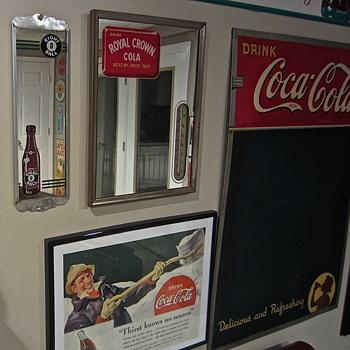 1930s era 8Ball soda mirror - Advertising