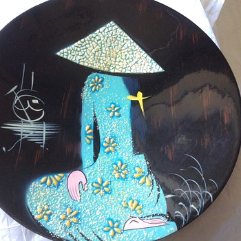 Stunning japanese wall plate - Asian