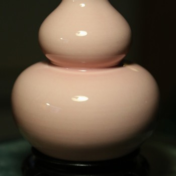 Pink Double Gourd Vase from China - Pottery
