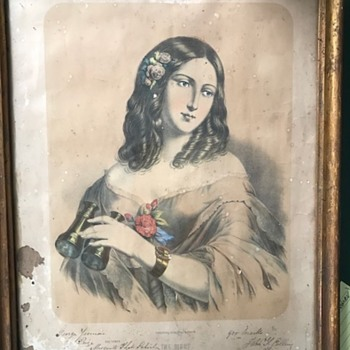 Picture given as school prize in 1870 on Victorian Goldfields