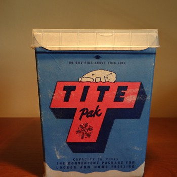 VINTAGE TITE PAK -USA - Advertising
