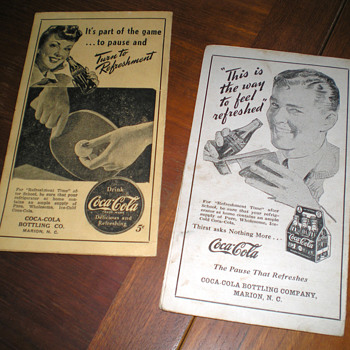 1940s Coca-Cola Report Cards From Marion, NC