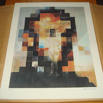 Salvador Dali Lincoln Vision A/P Lithograph - Posters and Prints