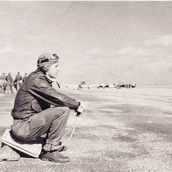 My Dad on runway - Military and Wartime