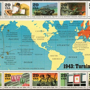 1993 - World War II Souvenir Sheet (U.S. Postage)
