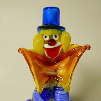 Murano Happy Clown,Circa 1960-70 - Art Glass