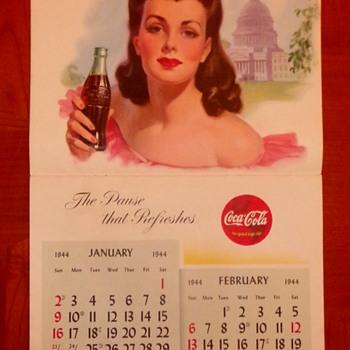 1944 Coca-Cola Calendar - Coca-Cola