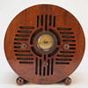 Detrola &quot;Wooden Blue Bird&quot; Art Deco Tube Radio