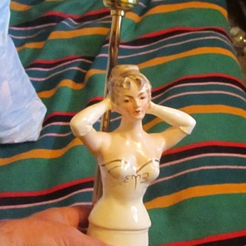 Half porcelain lady lamp