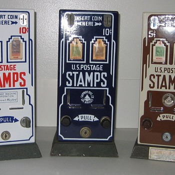 U.S. Postage Stamp Machine - Deco Porcleain - Office
