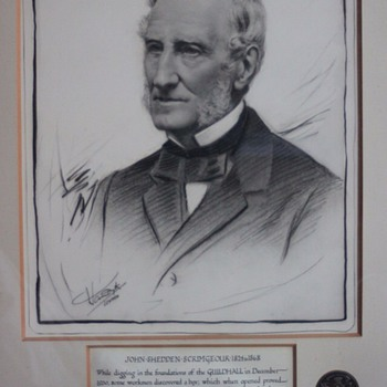 Drawing signed vandyke
