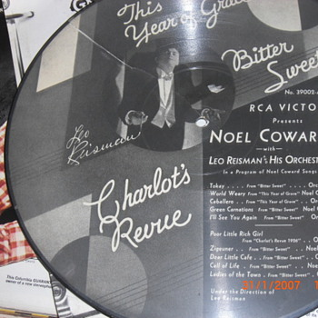 Noel Coward picture disk No. 39002-A - Records