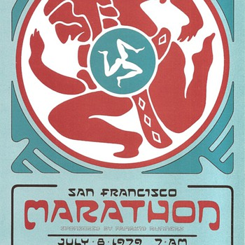 San Francisco Marathon card, David Singer, 1979 - Paper