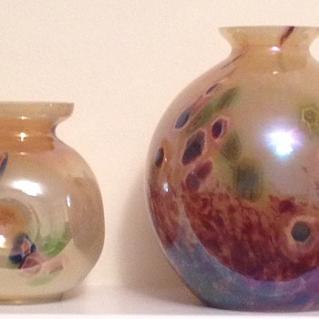 Two Kralik Art Deco millefiore vases