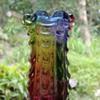 A Hokuyu Glass rainbow vase from Japan