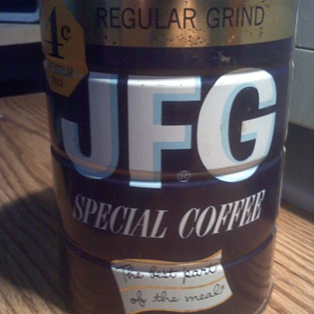 JFG Coffee Tin