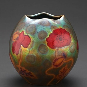 Poppy Vase by Zsolnay - Art Pottery