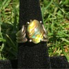 Sterling Silver Ring w/ abalone stone Signed