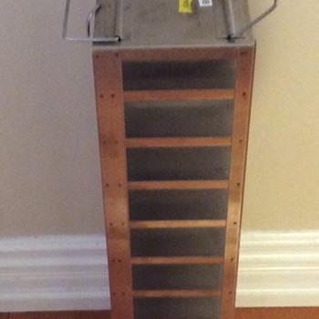 metal shelving unit?