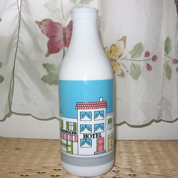 MILK GLASS BOTTLE FROM CARLTON GLASS