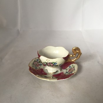H-B in Diamond Minature Demitasse Cup - China and Dinnerware