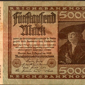 Germany - (5000) Mark Bank Note