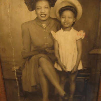 My Favorite Picture of My Grandmother & Mother, WWII Photo - Photographs