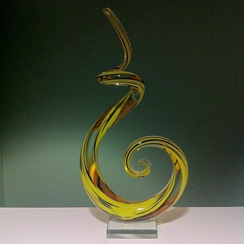 Murano Abstract Glass Art Centerpiece Sculpture