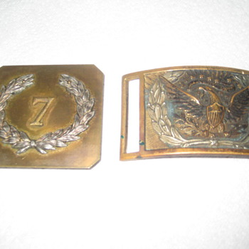 Civil War Belt Buckles or Hollywood Movie Props ?