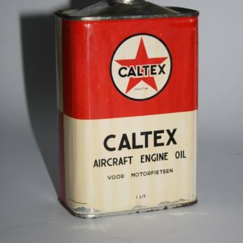 caltex oil can - Petroliana