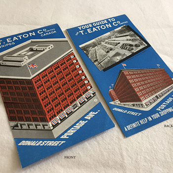 The T. EATON Co Limited, Winnipeg Departments Floor Guide Brochure