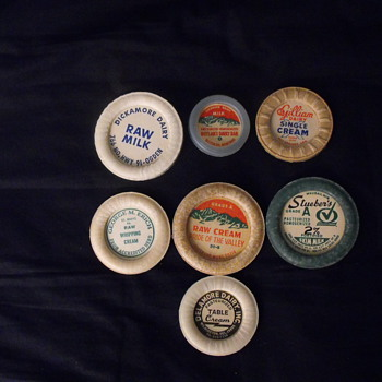 Various Milk Bottle Caps - Bottles