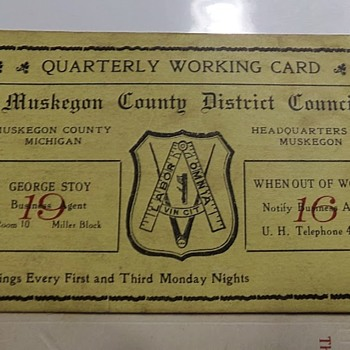 1916 Union Card? - Cards