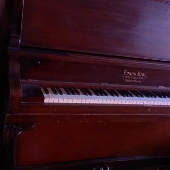 evans bros upright piano