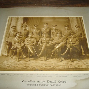 WWI - Large Antique Photo: Canadian Army Dental Corps 1918