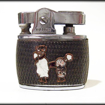 Vintage MANOR Ladies Lighter -- Poodle