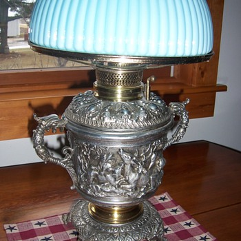 kerosene lamp with no id markings ~ anyone help with any info about it? - Lamps