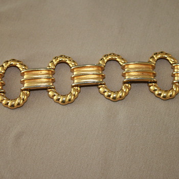 YSL Vintage Chuncky Gold Bracelet